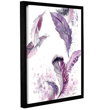 Bungalow Rose 'Purple Feathers IV' Framed Print on Canvas; 10'' H x 8'' W x 2'' D