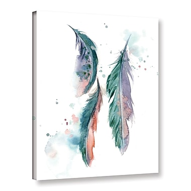 Bungalow Rose 'Majestic Feathers' Print on Canvas; 24'' H x 18'' W x 2'' D