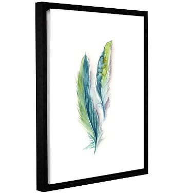 Bungalow Rose 'Majestic Feathers II' Framed Graphic Art Print on Canvas; 18'' H x 14'' W x 2'' D