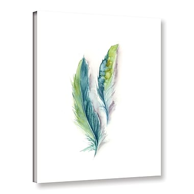 Bungalow Rose 'Majestic Feathers II' Print on Canvas; 32'' H x 24'' W x 2'' D