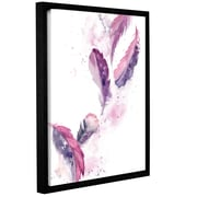 Bungalow Rose 'Purple Feathers II' Framed Print on Canvas; 24'' H x 18'' W x 2'' D