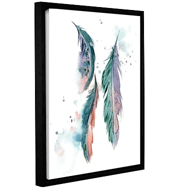 Bungalow Rose 'Majestic Feathers' Framed Print on Canvas; 18'' H x 14'' W x 2'' D