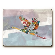 Bungalow Rose 'In Flight' Rectangle Graphic Art Print on Wood