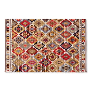 Bungalow Rose Chevell Flat Weave Bath Rug; Red