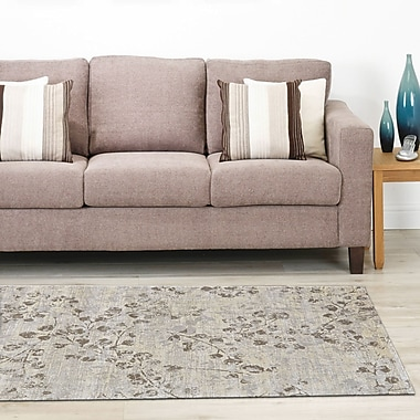Bungalow Rose Colbey Rectangle Gray Area Rug