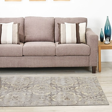 Bungalow Rose Colbey Graphite Area Rug