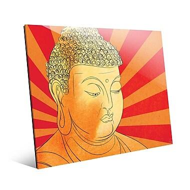 Bungalow Rose 'Buddha Vermillion Wash' Graphic Art Print on Glass; 8'' H x 10'' W x 1'' D