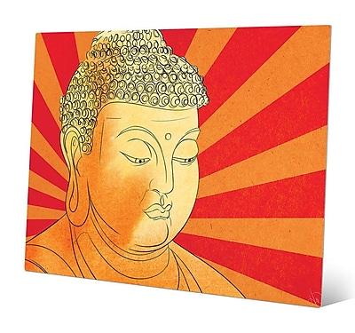 Bungalow Rose 'Buddha Vermillion Wash' Graphic Art Print on Metal; 16'' H x 20'' W x 0.04'' D