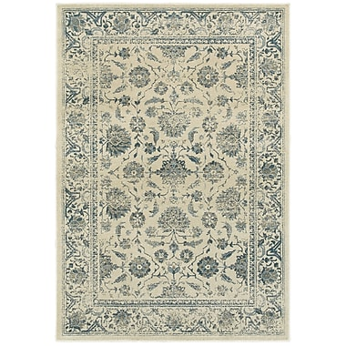 Bungalow Rose Dover Faded Garden Ivory Area Rug; Runner 2'3'' x 7'6''