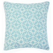 Bungalow Rose Dru Embroidered Throw Pillow (Set of 2); Sea Foam
