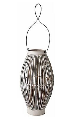 Bungalow Rose Vintage Bamboo Lantern