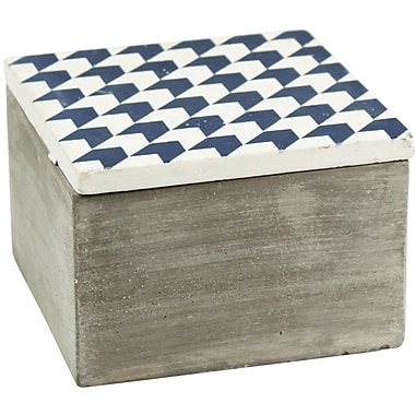 Bungalow Rose Cement Decorative Box; 3.5'' H x 5.25'' W x 5.25'' D