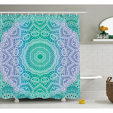 Bungalow Rose Cort Mandala Geometric Figure Shower Curtain; 69'' W x 84'' L