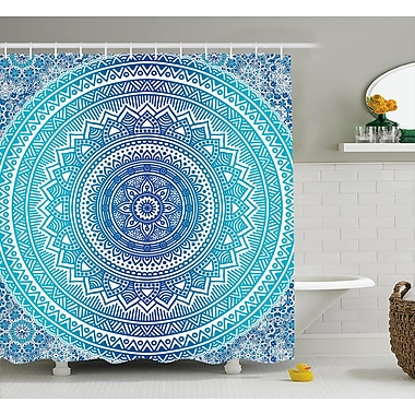 Bungalow Rose Cort Meditation Ritual Theme Shower Curtain; 69'' W x 84'' L
