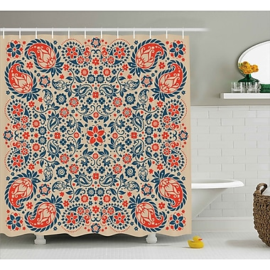 Bungalow Rose Darcey Cultural Folk Persian Shower Curtain; 69'' W x 75'' L
