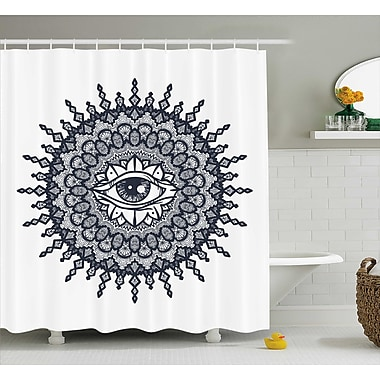 Bungalow Rose Dayne Traditional Mandala Art Shower Curtain; 69'' W x 70'' L