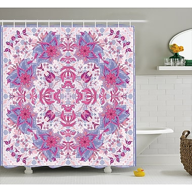 Bungalow Rose Delano Boho Ethnic Floral Shower Curtain; 69'' W x 75'' L