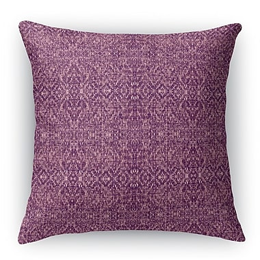 Bungalow Rose Dezirae Purple Throw Pillow; 16'' H x 16'' W x 6'' D