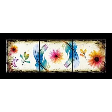 Bungalow Rose 'Butterflies and Flowers' Graphic Art Print Multi-Piece Image on Canvas