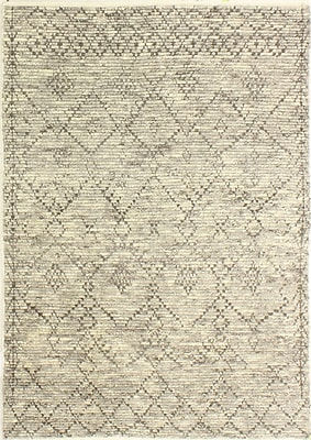 Bungalow Rose Floressa Hand-Knotted Gray Area Rug; 5' x 7'6''
