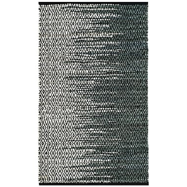 Bungalow Rose Logan Hand-Woven Light Gray Area Rug; Round 6'