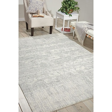 Bungalow Rose Arabelle Abstract Ivory Area Rug; 5'6'' x 8'