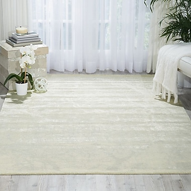Bungalow Rose Arabelle Solid Ivory Area Rug; Round 8'