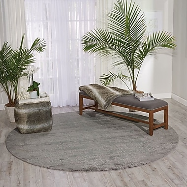 Bungalow Rose Arabelle Gray Area Rug; 5'6'' x 8'