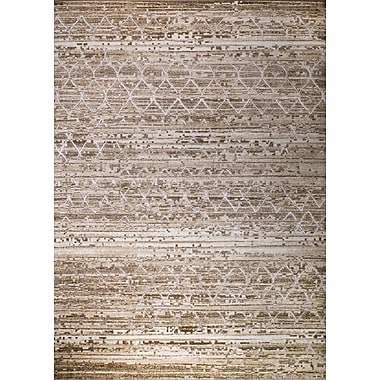 Bungalow Rose Gregory Glamour Taupe Area Rug; 3'7'' x 4'11''