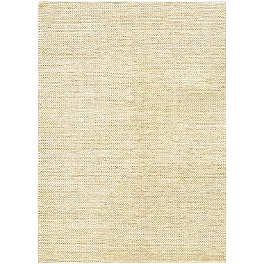 Bungalow Rose Uhlig Hand-Woven Cream Area Rug; 5'3'' x 7'6''