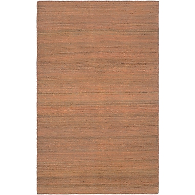 Bungalow Rose Uhlig Hand-Woven Rust Area Rug; 7'10'' x 10'10''
