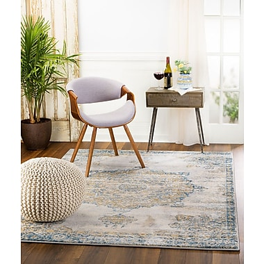 Bungalow Rose Amy Royal Medallion Gray Area Rug; 2' x 3'
