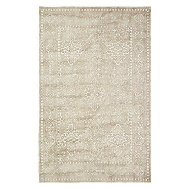 Bungalow Rose Anamaria Hand-Woven Light Brown Area Rug; 2' x 4'