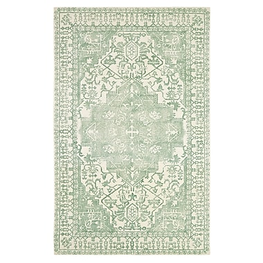 Bungalow Rose Anamaria Hand-Woven Green Area Rug; 5' x 8'