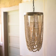 Bungalow Rose Apsley Draping Wooden Foyer Pendant