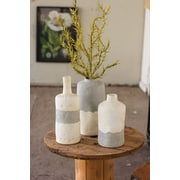 Bungalow Rose Ceramic Bottle 3 Piece Table Vase Set