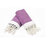 Bungalow Rose 100pct Cotton Diamond Weave Tassled Hand Towel (Set of 2); Pink