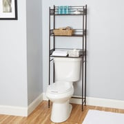 Bungalow Rose Griffin 22'' W x 64'' H Over the Toilet Storage; Oil Rubbed Bronze