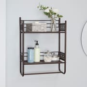 Bungalow Rose Griffin 18'' W x 24'' H Bathroom Shelf; Oil Rubbed Bronze