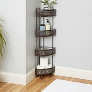 Bungalow Rose Griffin Corner Caddy 8.5'' W x 37.4'' H Bathroom Shelf; Oil Rubbed Bronze