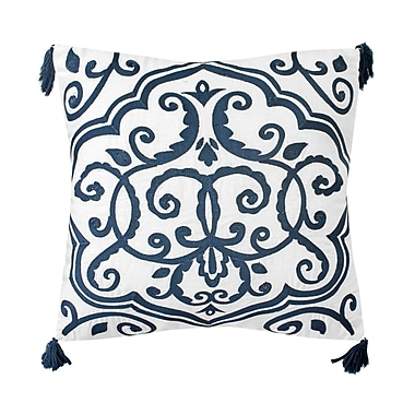 Bungalow Rose Walters Embroidered 100pct Linen Throw Pillow