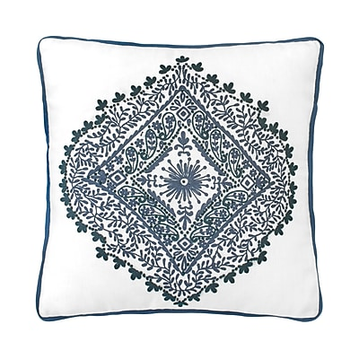 Bungalow Rose Walters Medallion 100pct Linen Throw Pillow