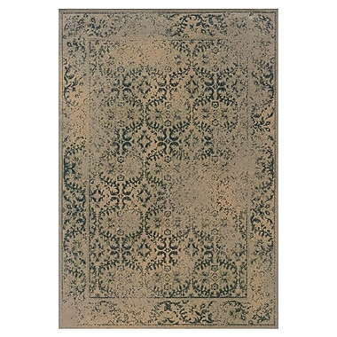Bungalow Rose Bingley Traditional Beige/Blue Area Rug; 7'10'' x 10'10''
