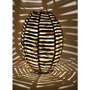 Bungalow Rose Blaire Beehive 1-Light Globe Pendant; 19'' H x 12'' W x 12'' D