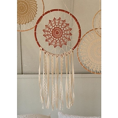 Bungalow Rose Crochet Ornamental Dream Catcher Wall D cor