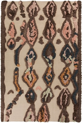 Bungalow Rose Aubriana Beige Hand Woven Rug; 5' x 8'