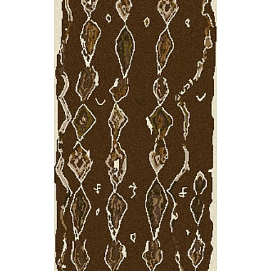 Bungalow Rose Aubriana Taupe Hand Woven Rug; 5' x 8'