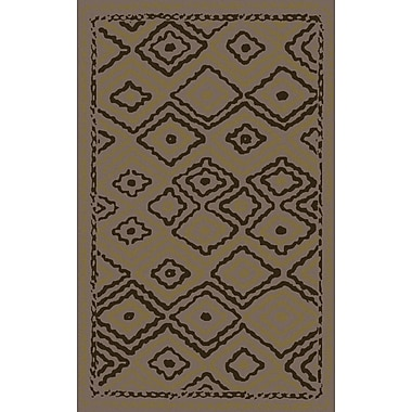 Bungalow Rose Audrina Taupe & Brown Geometric Area Rug; 5' x 8'