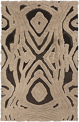 Bungalow Rose Aubriana Hand-Woven Taupe Area Rug; 3'6'' x 5'6''