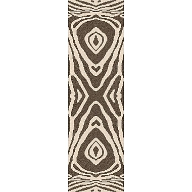 Bungalow Rose Aubriana Hand-Woven Taupe Area Rug; Runner 2'6'' x 8'